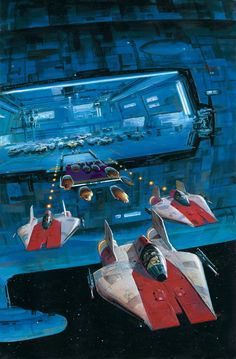 Star Wars: X-Wing Rogue Squadron: Family Ties Star Wars Ships, Star Wars Art, Star Trek, 70s Sci Fi Art, Star Wars Vehicles, Sci Fi Spaceships, Story Arc, Science Fiction Art, Illustrations