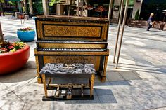 "Painted Piano - ""Have A Seat"" - Elegant street piano"