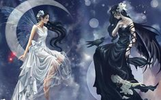 White and black, good and evil, yen and yang
