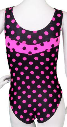 Destira: Black with Pink Polka Dots Leotard Gymnastics Clothes, Gymnastics Costumes, Dance Costumes, Kids Winter Fashion, Gymnastics Leotards, Pink Polka Dots, Dance Outfits, Best Sellers, Black