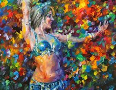 belly dancer Painting  - belly dancer NEW Fine Art Print