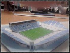 Olympique de Marseille Stade Vélodrome Free Building Paper Model Download