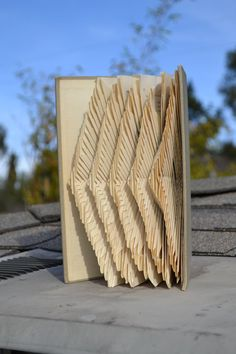 Sound Waves - Radio English - Folded Book Art - Recycled, Repurposed, Reclaimed