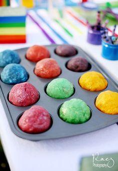 kids craft: rainbow glitter playdoh...
