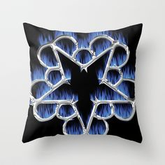 Black Veil Brides pillows | Fiery Chrome Black Veil Brides Star - We Are The Outcasts Throw Pillow
