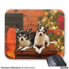 Christmas Chihuahua's Mouse Pad