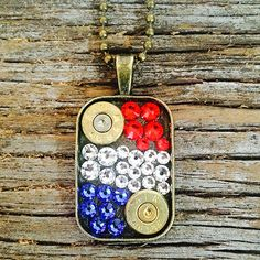 'American Pride' Red, White & Blue Swarovski Crystal Small Dog Tag Nec – Prettyhunter.com
