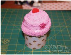Sock Cupcake...maybe teacher gifts next Christmas