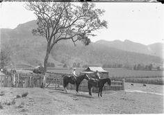 two girls on horseback, Burragorang Valley