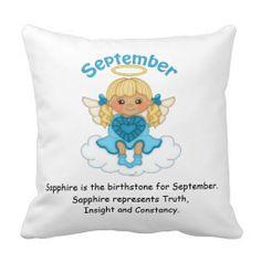 September Birthstone Angel Blonde Pillow  http://www.zazzle.com/september_birthstone_angel_blonde_pillow-189932463178432114?rf=238631258595245556