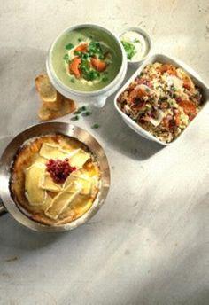 Camembert-Pfannkuchen mit Preiselbeeren