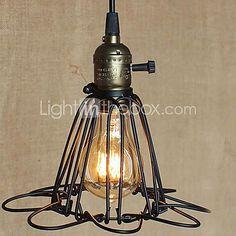 Plafonnier Industriel Lustre E27 Suspension Vintage Edison