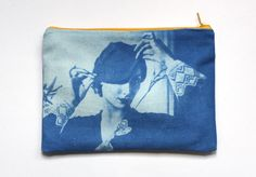 Sun-printing images on fabric with inkodye.  Old family photos as pillows...!