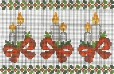 Border with Christmas candles cross stitch pattern - free cross stitch patterns crochet knitting amigurumi Xmas Cross Stitch, Cross Stitch Cards, Cross Stitch Borders, Cross Stitch Designs, Cross Stitching, Cross Stitch Embroidery, Cross Stitch Patterns, Embroidery Patterns, Hand Embroidery