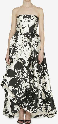 Oscar de la Renta Black & White Dress