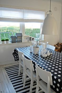 like this kitchen--especially the polka dots
