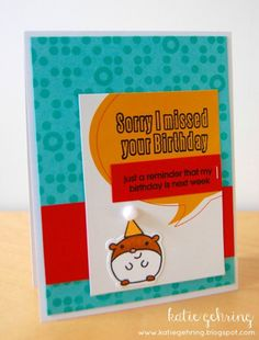 Card by SPARKS DT Katie Gehring PS stamp sets: Party Posse, Dippy Dots, Happy Birthday; PS dies: Posse Icons