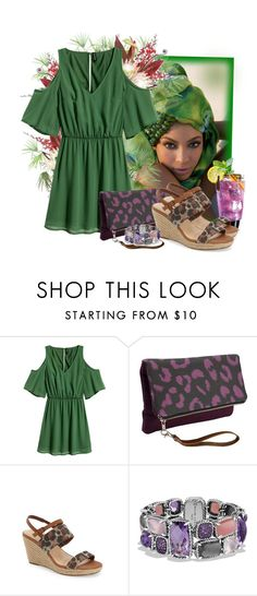 """H&M Open-shoulder Dress"" by tasha1973 ❤ liked on Polyvore featuring PLANT, House of Deréon, H&M, Bella Vita and David Yurman"