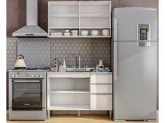 Cozinha Compacta Líder Casa Aroma - 4 Portas 3 Gavetas com as melhores condições você encontra no Magazine Edmilson07. Confira!