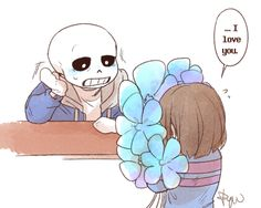 1. Sans and Frisk | Artist RyuO
