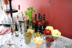 Bloody Mary bar.  Perfect for a brunch