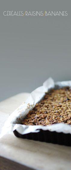 Barres de céréales aux raisins et à la banane - Petits Pois