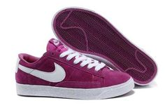 cheap for discount 99f5f fce59 2013 Femme Nike Blazer Low Suede Vintage Pure Pourpre Blanc  B37v