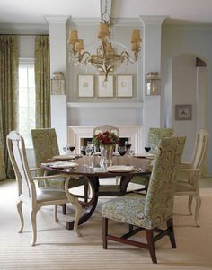 A traditional and elegant dining room for fine dining. #HomeGoodsHappy