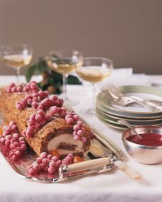 """See the """"Fig Holiday Roll"""" in our Rolled Cake Recipes gallery"""