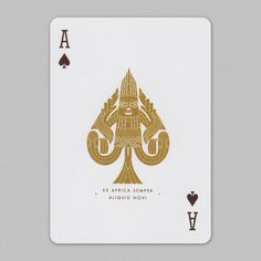 #aceofspades featured in Lost Wax #playingcards.
