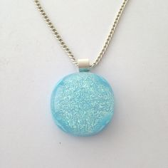 Sparkly blue pendantblue dichroic by BeautifulGlassbyZoe on Etsy