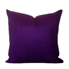 "Vintage 1970s Purple Cushion Cover, Original Vintage & Organic Cotton Fabric 16"" x 16"""