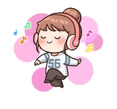 Little Bun : Fangirl Mode Cartoon Gifs, Cute Cartoon, Kawaii Stickers, Cute Stickers, Chibi, Korean Expressions, Funny Emoticons, Korean Stickers, Cute Love Gif