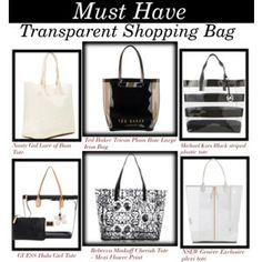 Must Have: Transparent Shopping Bag