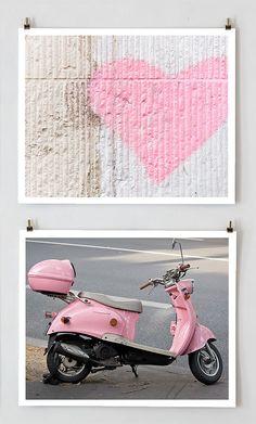 Paris Color Photography Set Pink
