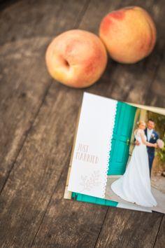 Vintage Dankeskarte in Apricot