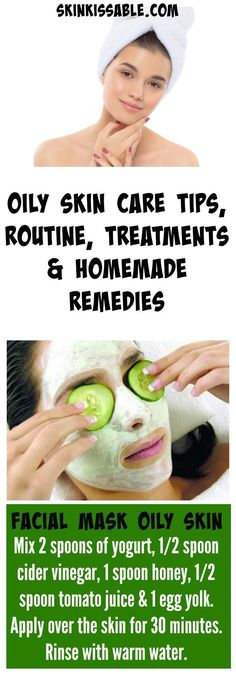 What is the best facial skin care routine for oily skin and acne? Reduce and manage oily skin with a daily routine, effective tips, natural DIY homemade remedies, face treatments and skin care products that work. Oily Skin Care, Skin Care Regimen, Anti Aging Skin Care, Dry Skin, Skin Care Tips, Skin Tips, Organic Skin Care, Natural Skin Care, Natural Face