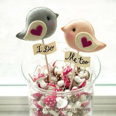 Personalized LOVE BIRDS Unique Wedding Cake Topper Custom Color (set of - Party Decor, Wedding photo prop, Wedding Gift, Friendship Gift on Etsy, Diy Wedding, Wedding Gifts, Wedding Cakes, Decor Wedding, Wedding Ideas, Pink Green Wedding, Engagement Party Favors, Bird Party, Wedding Photo Props