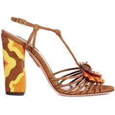 Aquazzura Samba Suede Sandal ($730) ❤ liked on Polyvore featuring shoes, sandals, aquazzura shoes, aquazzura, suede sandals, aquazzura sandals and suede leather shoes