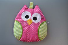 Owl Cherry Pit Pillow