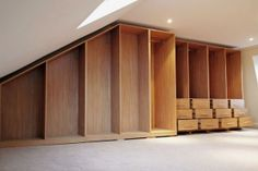 For High Quality Loft Wardrobes in London, Visit C & S Interiors Today. We Design And Build Stunning Loft Wardrobes. Contact Us Today For More. Made To Measure Wardrobes, Fitted Wardrobes, Loft Conversion Bedroom, Wardrobe Doors, Wardrobe Ideas, Bedroom Loft, Sliding Doors, Home Furnishings, London