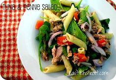 Easy tuna and penne salad - perfect for weeknights as it takes less than 30 minutes to prepare
