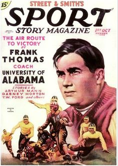 From rolltideroll.com In 1935, Alabama's head coach Frank Thomas was featured in Sport Story Magazine, giving an explanation of his approach to football as well as a detailed analysis of the Crimson Tide's performance in that year's Rose Bowl -- a 29-13 victory over Stanford.