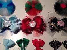 Holiday are near get your winter, Santa baby, New Year's Eve hair bow package today. Etsy.com/itzybitzybyritzy