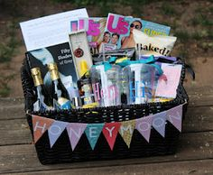 Honeymoon Gift BasketGenius Bridal shower gift! Where was this pin ...