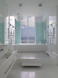 serenely calmly gorgeous #bathroom #turquoise #aqua