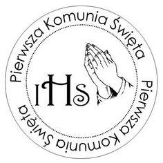 Okrągły Gumowy Stempel - Pierwsza Komunia Św. - IHS - no6