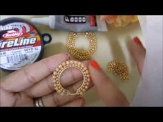 Argollas Decoradas en Cristales y Mostasillas con puntadas de ladrillos - YouTube Quilling Earrings, Beaded Earrings, Conquistador, Brick Stitch, Beading Tutorials, Filigree, Stitches, Jewlery, Jewelry Making