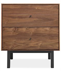 Don't let Hudson's delicate design fool you - it's built to be rock solid. This modern nightstand is handcrafted in West Virginia by skilled artisans, who share their pride by signing the back of each Hudson piece they create. The natural grain pattern of U.S.-sourced solid wood is the perfect backdrop for the sleek, timeless design of this nightstand. From a distance you'll appreciate how seamlessly this minimalist design incorporates into any space. Up close, you'll love...