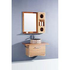 Bamboo 3-piece 35.5-inch Single Sink Vanity Set | Overstock.com Shopping - Great Deals on Bathroom Vanities